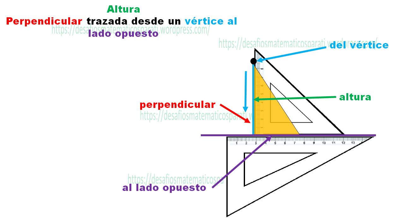 Traza las alturas de los triángulos – Desafíos matemáticos