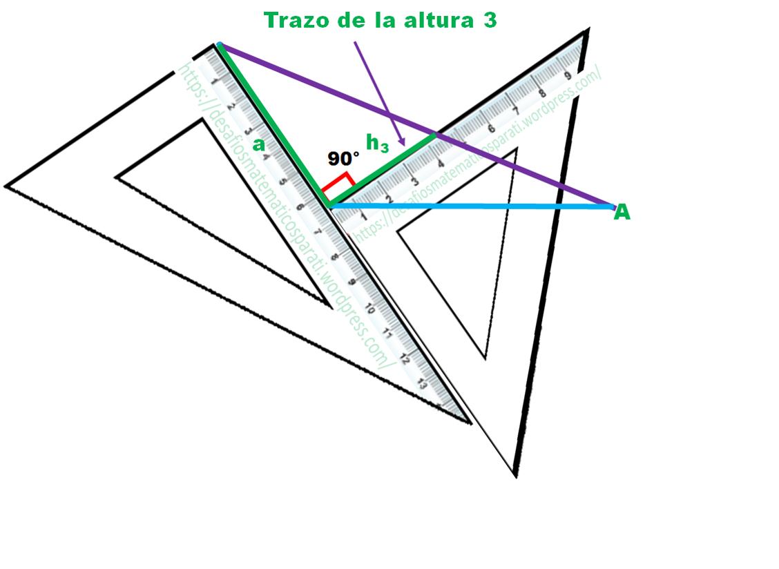 Cómo obtener las tres alturas de un triángulo – Desafíos matemáticos