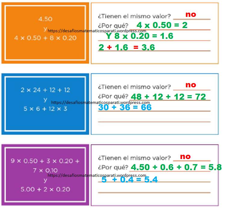Desafío 48 Cuarto grado – Desafíos matemáticos