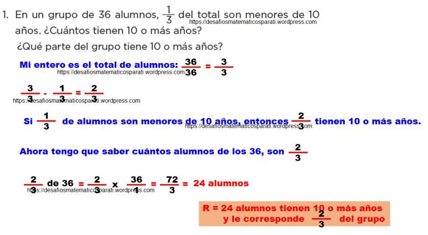 Problemas con fracciones – Desafíos matemáticos