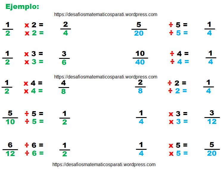 Fracciones equivalentes – Desafíos matemáticos
